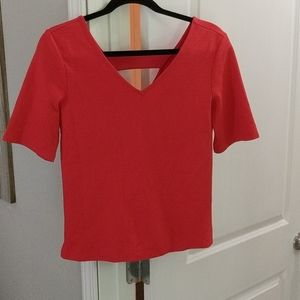 Halogen Coral Structured Top